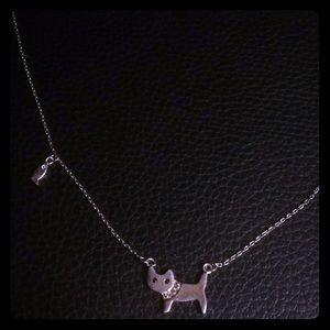 NWOT Kitty & Fishie Sterling Silver w sappire neck